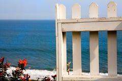 海滩前属性 库存照片
