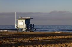 海滩加利福尼亚救生员岗位威尼斯 免版税库存照片