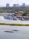 海滩加利福尼亚方式海岛纽波特 免版税库存照片