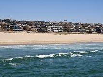海滩加利福尼亚曼哈顿 库存图片