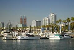 海滩加利福尼亚长的江边 免版税库存照片