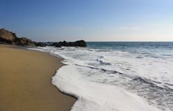 海滩加利福尼亚dume点 免版税库存照片
