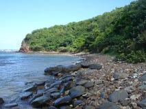 海滩加勒比佛拉明柯舞曲波多里哥 免版税库存照片
