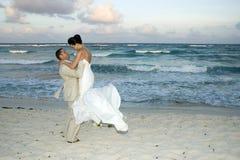 海滩加勒比cele婚礼 库存照片