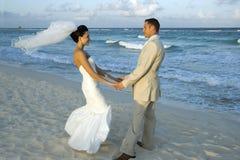 海滩加勒比cele婚礼 免版税库存图片