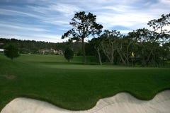 海滩加州路线高尔夫球小卵石 库存照片