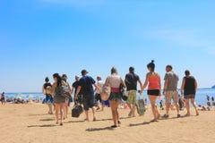 海滩加拿大oka魁北克 免版税库存照片