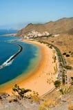 海滩加那利群岛西班牙tenerife teresitas 免版税图库摄影