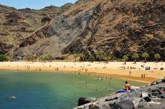 海滩加那利群岛西班牙tenerife teresitas 图库摄影