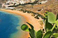 海滩加那利群岛西班牙tenerife teresitas 库存照片
