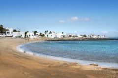 海滩加那利群岛lanzarote 库存照片