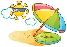 海滩动画片例证 库存图片