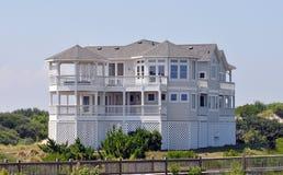 海滩北部卡罗来纳州的房子 库存照片