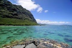 海滩北部奥阿胡岛岸 库存照片