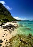 海滩北部奥阿胡岛岸 免版税库存图片