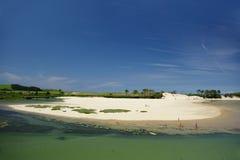 海滩北部西班牙 免版税库存照片