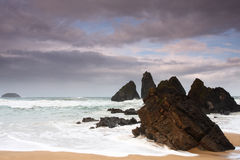 海滩北部西班牙 免版税库存图片