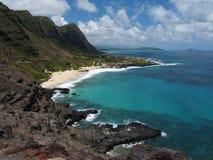 海滩华美的夏威夷makapuu 库存照片
