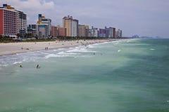 海滩南卡罗来纳州的加州桂 免版税库存照片