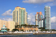海滩南的迈阿密 库存照片
