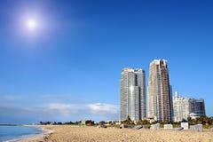 海滩南的迈阿密 图库摄影
