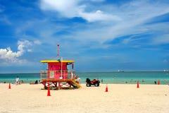 海滩南的迈阿密 免版税图库摄影
