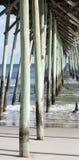 海滩卡罗来纳州北部码头 免版税图库摄影