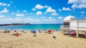 海滩卡迪士 免版税图库摄影