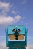 海滩双筒望远镜 免版税库存照片