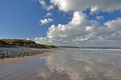 海滩反映 图库摄影