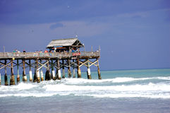 海滩可可粉码头 库存照片