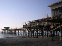 海滩可可粉黎明码头 库存照片