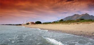 海滩可西嘉岛 免版税库存照片