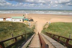 海滩台阶 库存照片