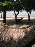 海滩吊床菲律宾藤条 免版税库存图片