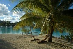 海滩吊床 免版税库存照片