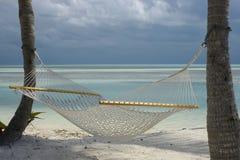 海滩吊床 免版税图库摄影
