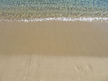 海滩含沙暑假通知 库存照片