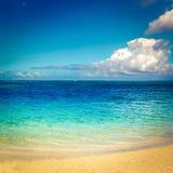 海滩含沙热带 美好的横向 免版税库存照片