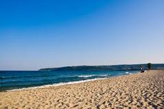 海滩含沙的保加利亚 免版税库存图片