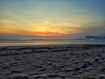 海滩呀Purwo 图库摄影