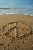 海滩和平 免版税库存照片