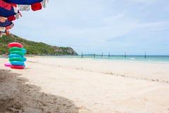 海滩和海的看法 免版税库存照片