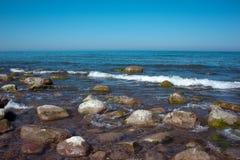 海滩和石头 Königsberg 库存图片