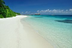 海滩和通知 免版税库存照片