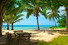 海滩咖啡馆 免版税库存照片
