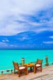 海滩咖啡馆 图库摄影