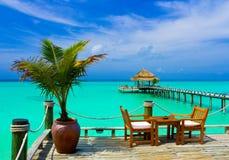 海滩咖啡馆 免版税库存图片