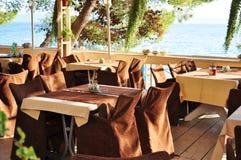 海滩咖啡馆 免版税图库摄影
