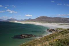 海滩哈里斯hebrides外面小岛的luskentyre 免版税图库摄影